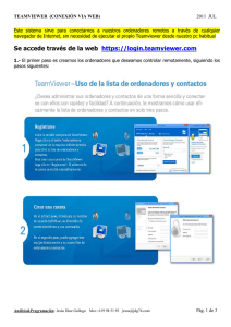Se accede través de la web https://login.teamviewer.com