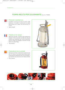 POMPA MESTO PER DISARMANTE Cod. Art