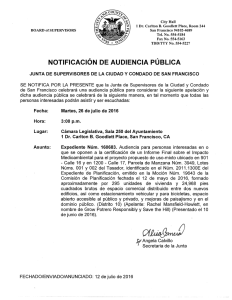 NOTIFICACION DE AUDIENCIA PUBLICA