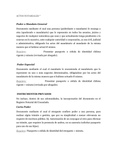 Documentos y requisitos actos notariales