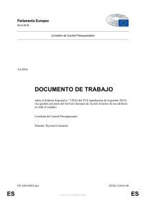 ES ES DOCUMENTO DE TRABAJO