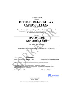inst de logistica y transp ltda.-new inn iso 9001