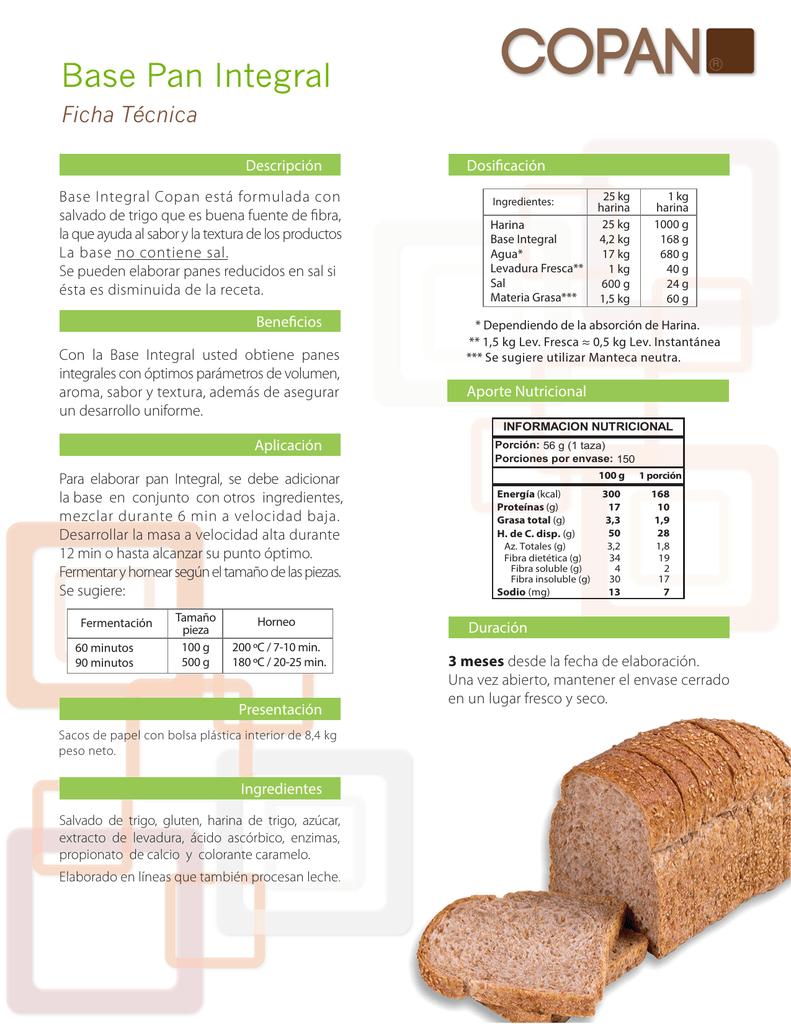 Pan de caja de harina integral