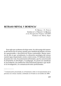 retraso mental y demencia