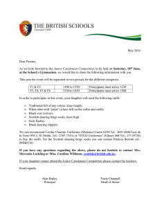 Junior Caledonian - The British Schools