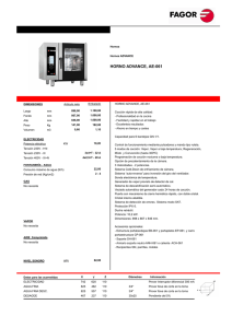 horno advance, ae-061