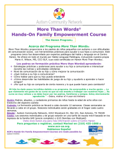 More Than Words® Hands-On Family Empowerment Course