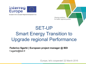 SET-UP Smart Energy Transition to Upgrade regional Performance