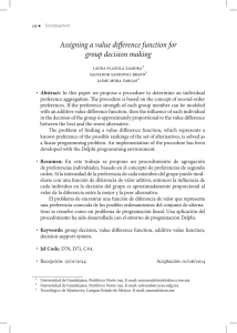 Assigning a value difference function for group decision making