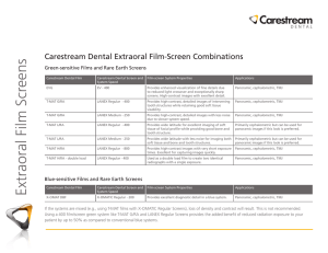 Extraoral Film Screens: Information Sheet