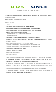 REQUISITOS PARA ESCRITURAR. 1.