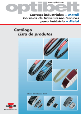 Catalogo Optibelt