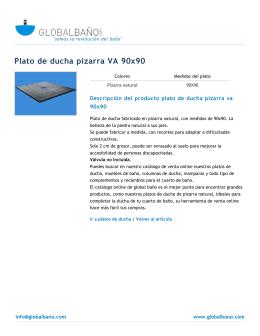 Plato de ducha de pizarra natural VA e40a124e6f7e