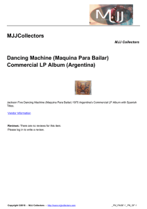 MJJCollectors Dancing Machine (Maquina Para Bailar) Commercial