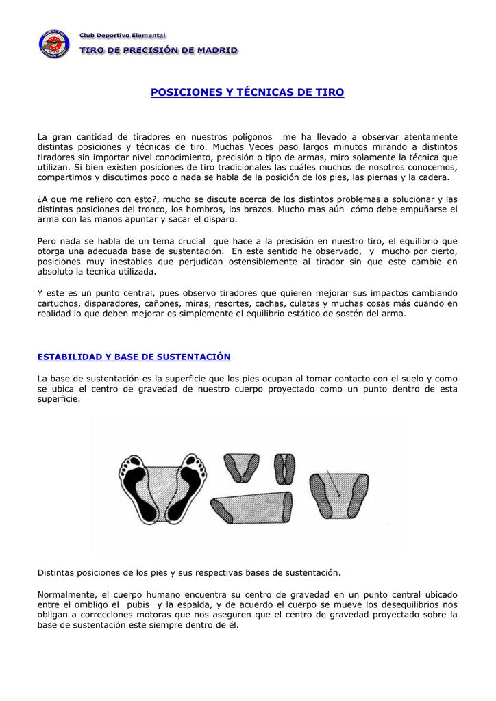 POSICIONES Y TÉCNICAS DE TIRO