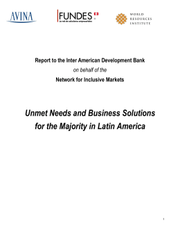 Unmet Needs and Business Solutions for the Majority in Latin America