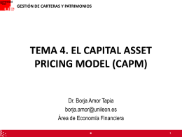 TEMA 4 – Capital Asset Pricing Model (CAPM)