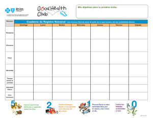 Good Health Club: Weekly Journal (younger than 10 years, Spanish)