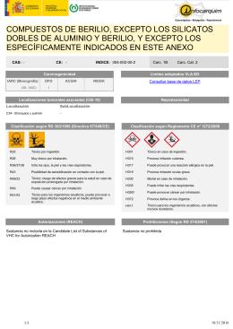 Be berilio nombre compuestos de berilio excepto los silicatos dobles de urtaz Gallery