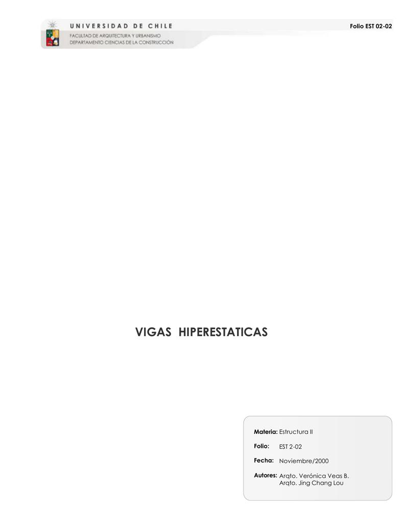 Vigas Hiperestaticas U