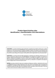 Protein-ligand binding sites Identification, characterization and
