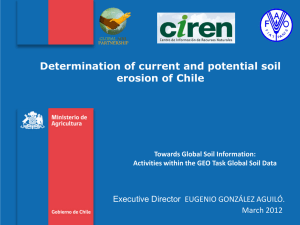 Determination of current and potential soil erosion of Chile