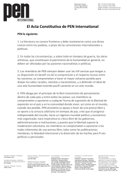 El Acta Constitutiva de PEN International