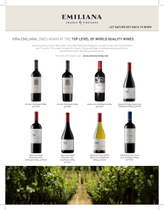 viña emiliana, ones again at the top level of world quality wines