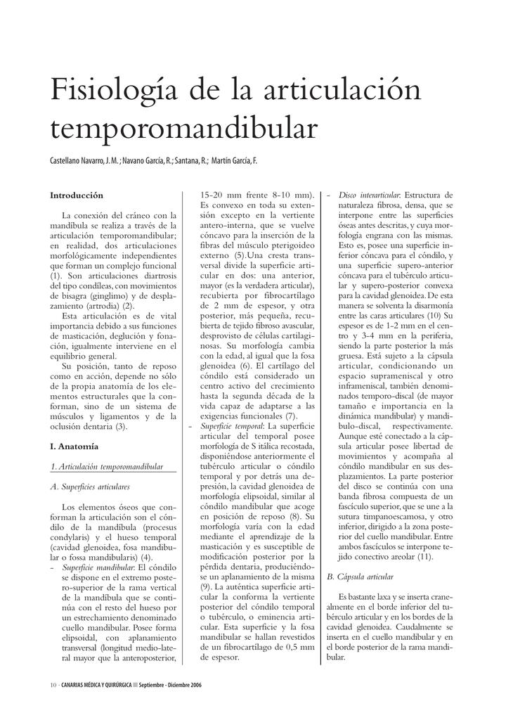 Fisiología de la articulación temporomandibular