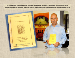 "Dr. Eduardo Olid, associate professor of Spanish, had his book ""Del"