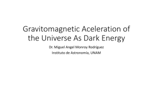 Gravitomagnetic Aceleration of the Universe As Dark