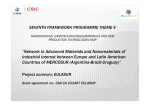 """Network in Advanced Materials and Nanomaterials of industrial"