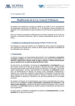 Modificación de la Ley General Tributaria