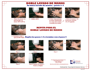 Doble Lavado de Manos - double hand washing poster