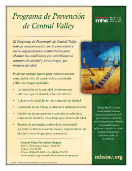 Programa de Prevención de Central Valley