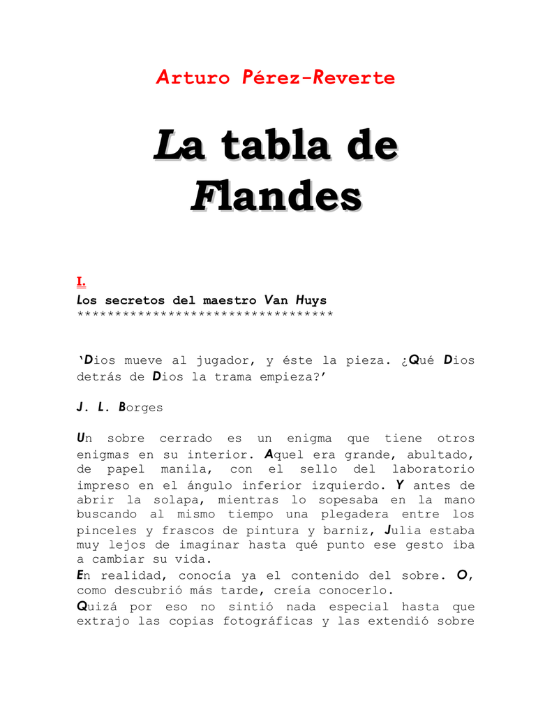 La tabla de Flandes - Biblioteca Digital