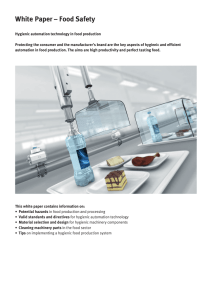White Paper - Food Safety