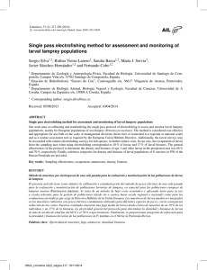 Single pass electrofishing method for assessment and