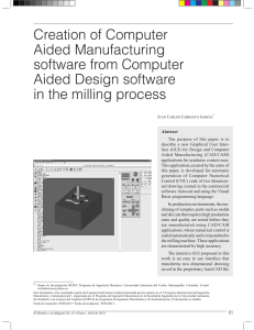 Creation of Computer Aided Manufacturing software from Computer