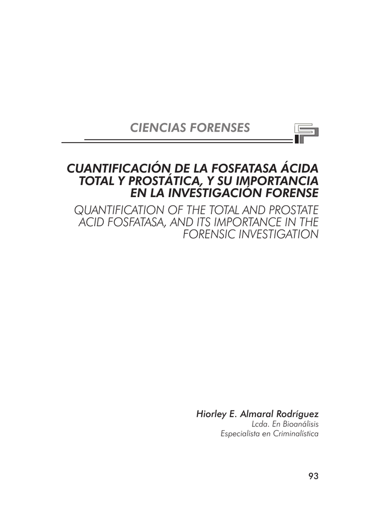 prueba de fosfatasa acida prostatica