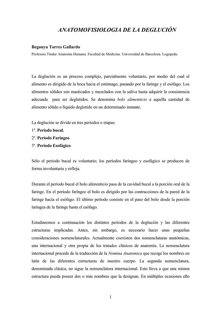 ANATOMOFISIOLOGIA DE LA DEGLUCIÓN
