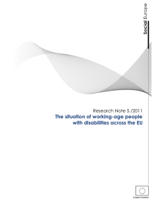 The situation of working-age people with disabilities across the EU