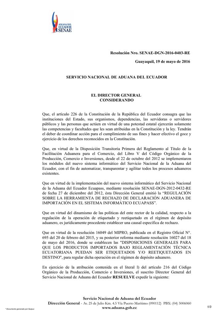Descarga Aduana Del Ecuador
