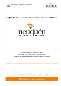 Requisitos Declaracion de Interés Turístico