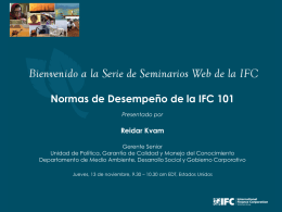 IFC`s Environmental and Social standards