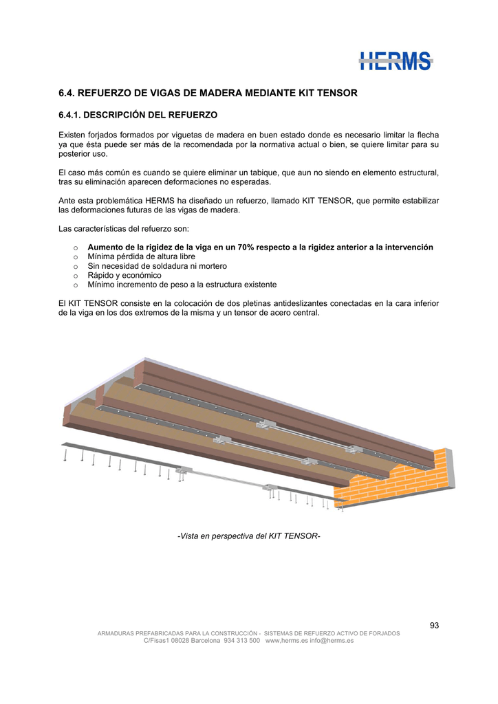 6.4. refuerzo de vigas de madera mediante kit tensor