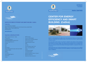 CENTER FOR ENERGY EFFICIENCY AND SMART BUILDING