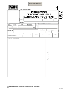 certificado de dominio inmueble matriculado