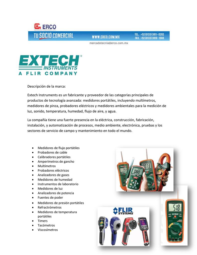 63d5b6e79 Descripción de la marca  Extech Instruments es un fabricante