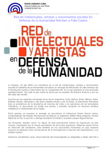Red de intelectuales, artistas y movimientos sociales En Defensa de